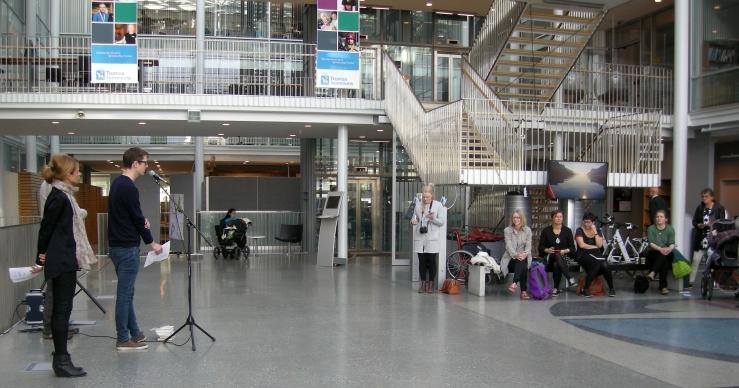 Ordkalottens kunstnerutvalg presenterer festivalprogrammet for 2015. Foto: Hilde Kat. Eriksen