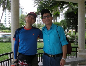 To sørkoreanske venner som jeg møtte i en park i Nha Trang. Foto: Hilde Kat. Eriksen