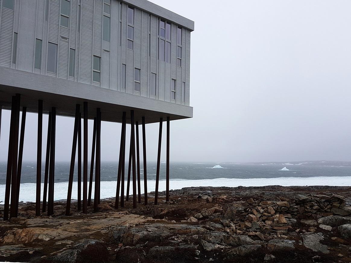 The Fogo Island Inn and the Ice. Photo: Hilde Kat. Eriksen