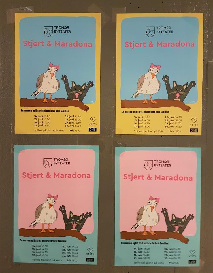Stjert & Maradona Plakat